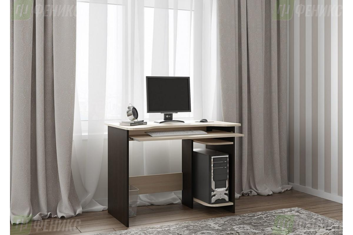 Стол компьютерный Моби-3 (венге+мол.дуб)