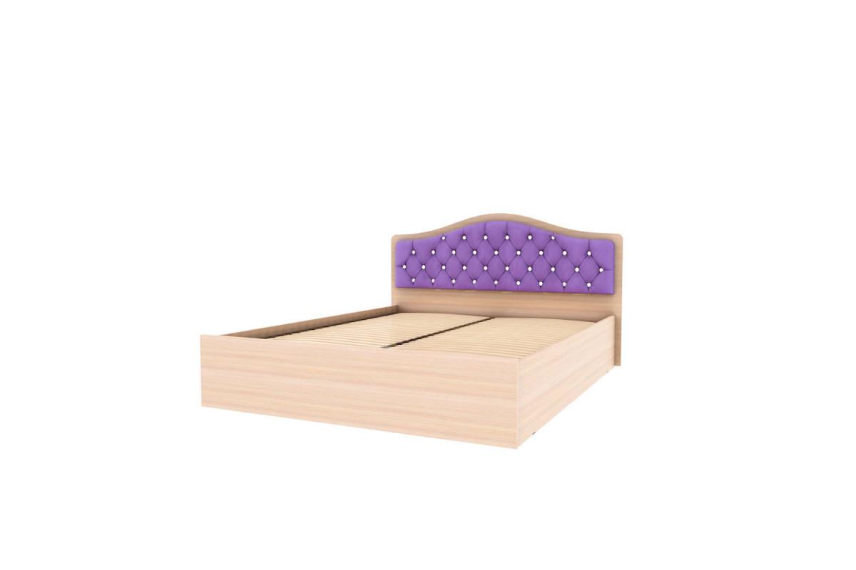 Кровать Дели - дуб молочный - ортопед