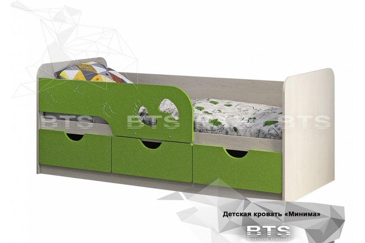 Кровать детская Минима Лего - Лайм