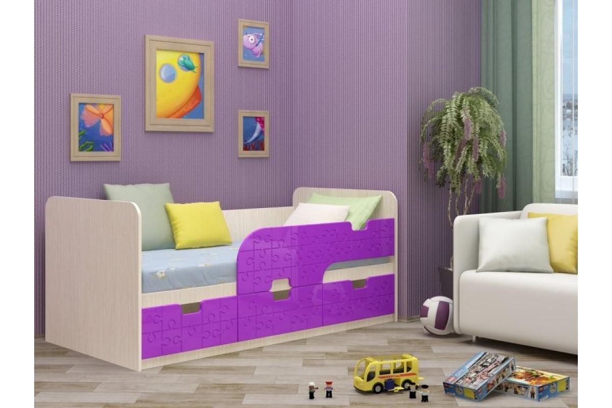 Кровать детская Минима - лиловый сад