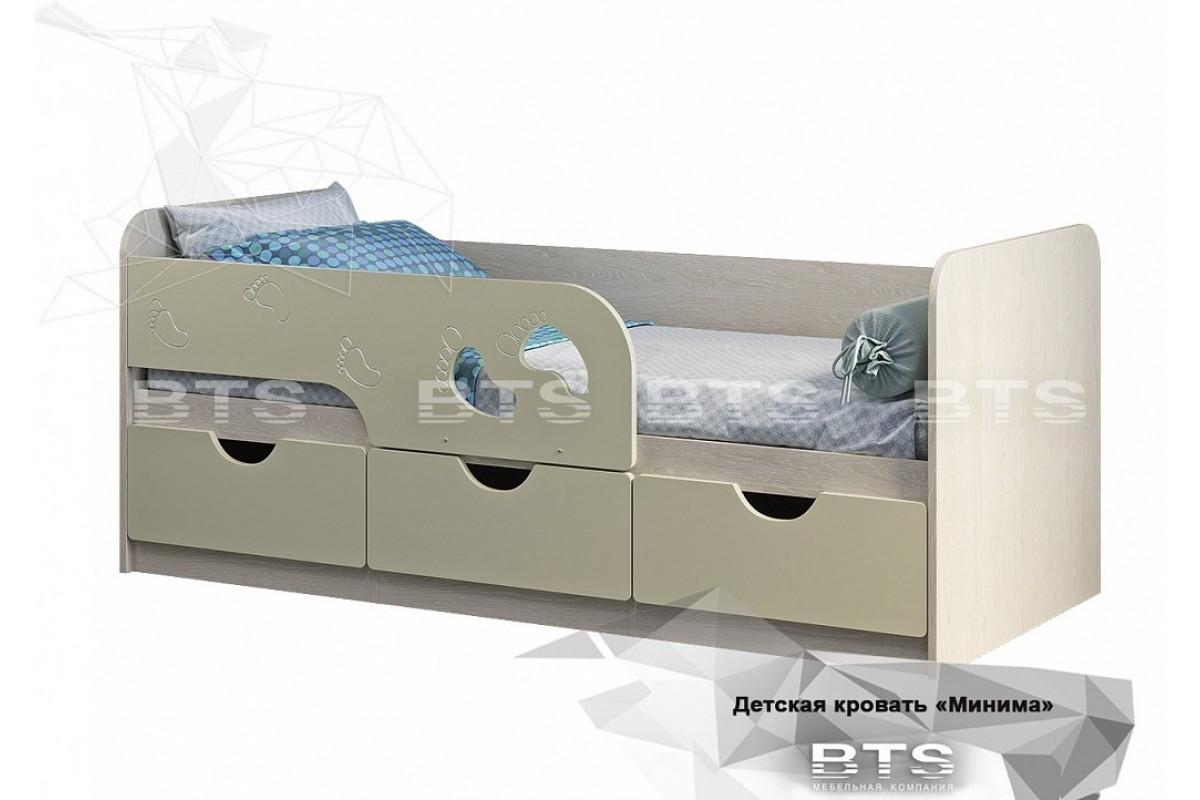 Кровать детская Минима Лего - Крем