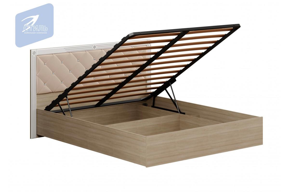 Спальня Амели. Кровать МДФ (Мягкий щиток с механизмом)