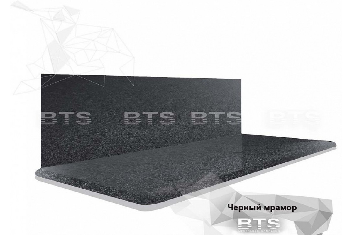 Столешница Черный мрамор 240 см.