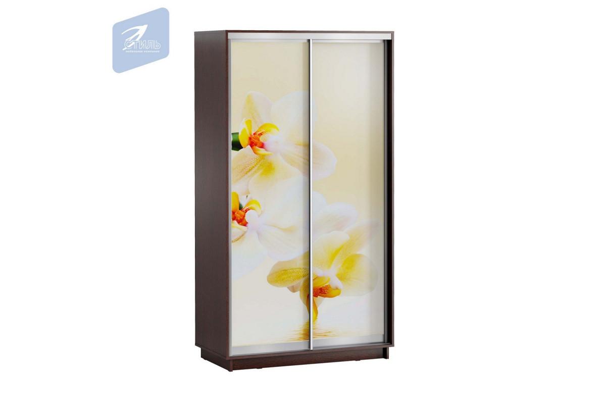 ЛЕО Шкаф Белая Орхидея 1200