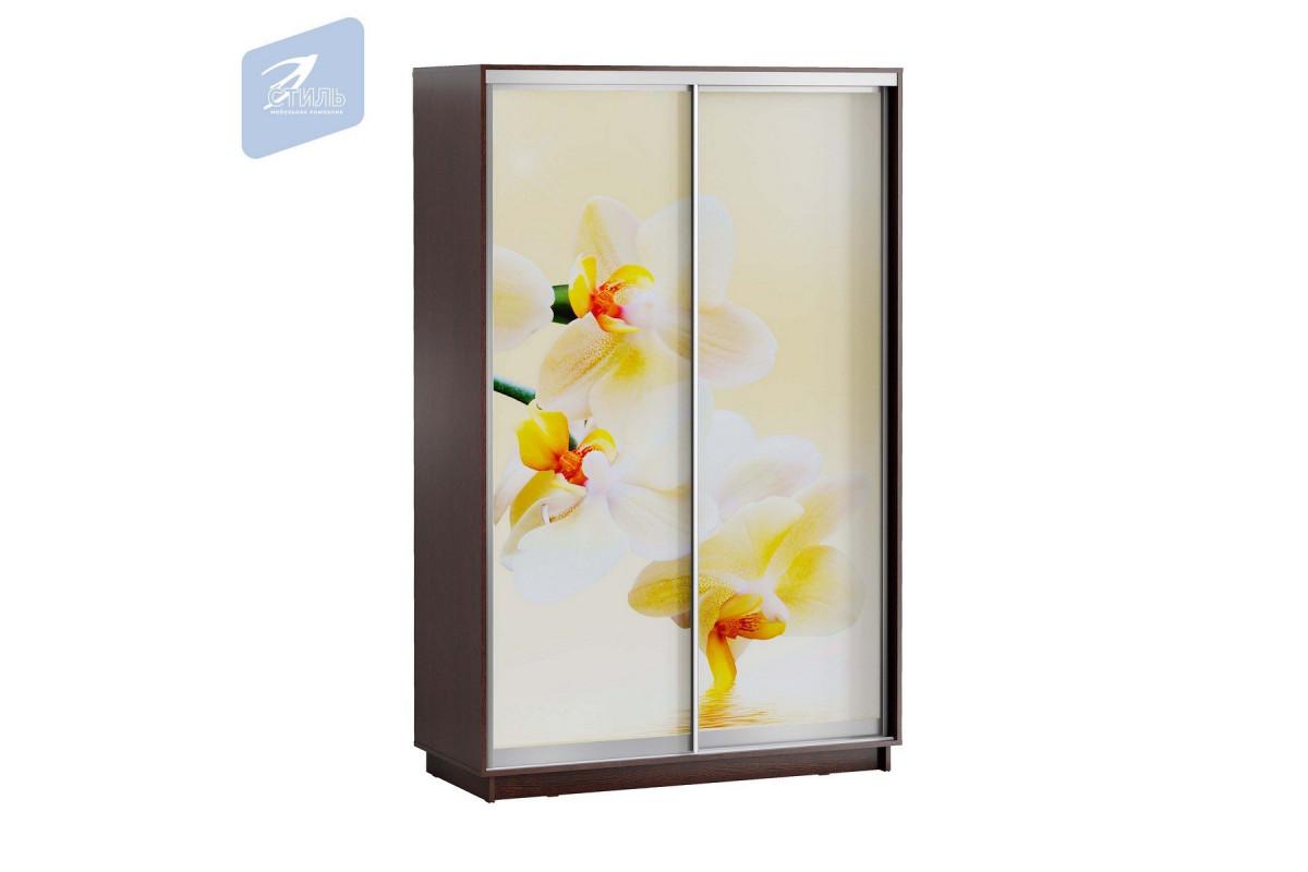 ЛЕО Шкаф Белая Орхидея 1400
