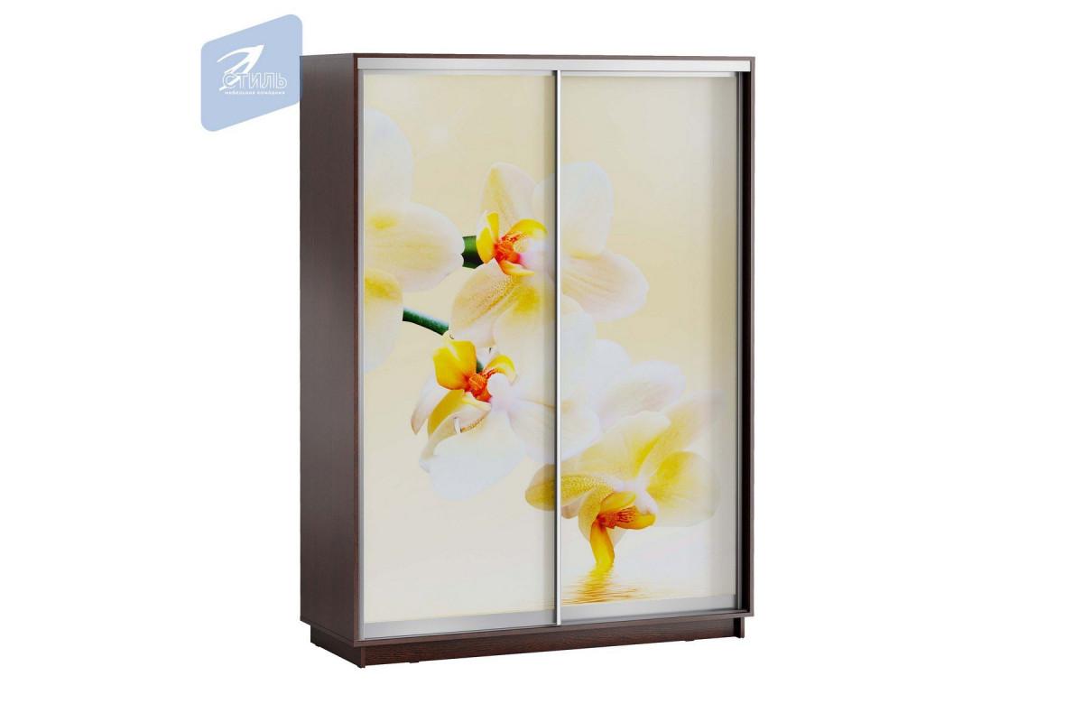 ЛЕО Шкаф Белая Орхидея 1600
