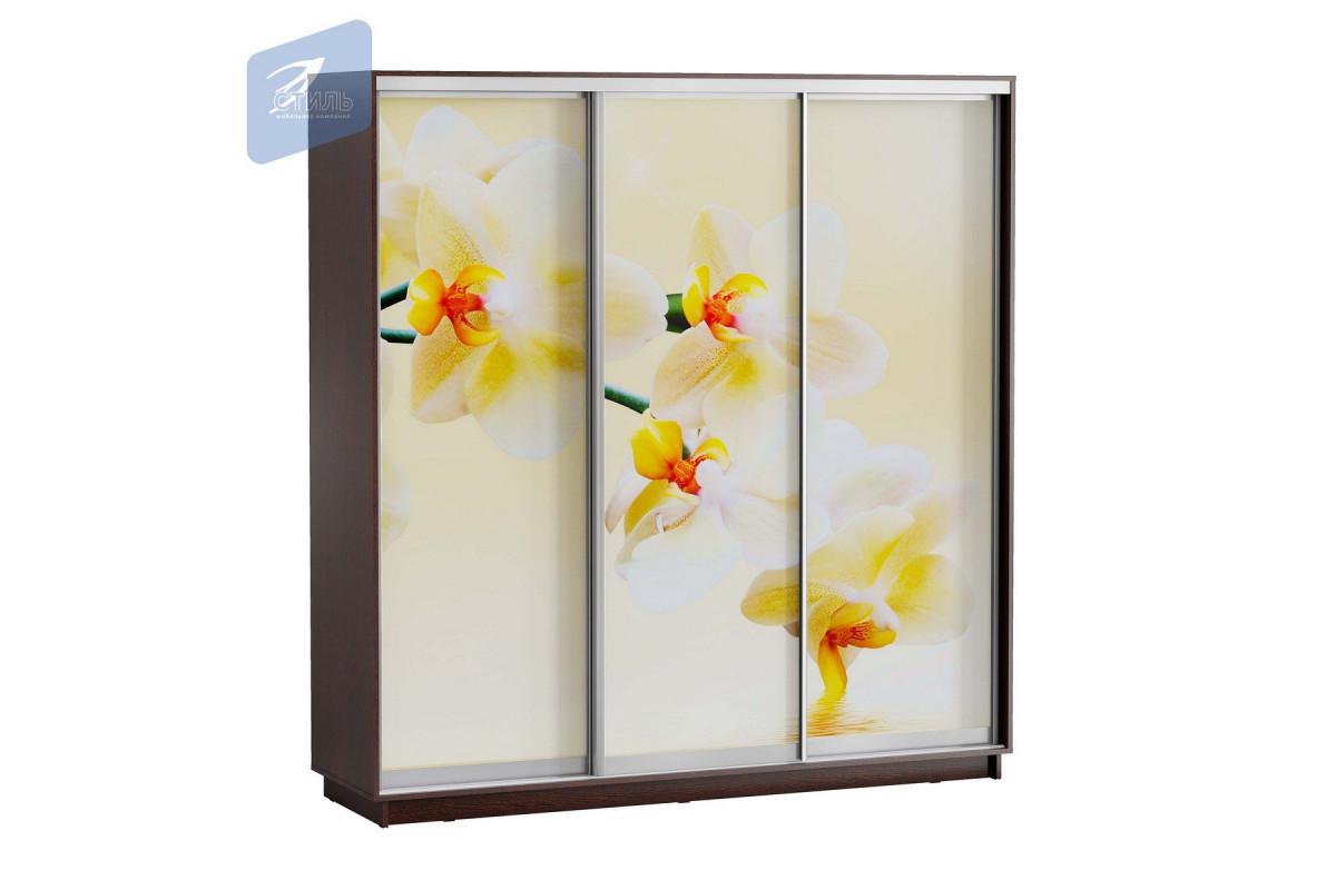 ЛЕО Шкаф Белая Орхидея 2100