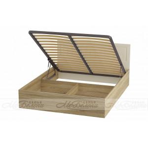 Кровать с головным щитом из МДФ Маркиза КР-02 1.6х2.0 с подъемных механизмом
