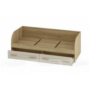 Кровать детская с выдвижными ящиками для белья Маркиза КР-01