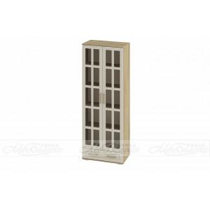 Двухстворчатый шкаф с решетчатыми фасадами Маркиза ШК-03