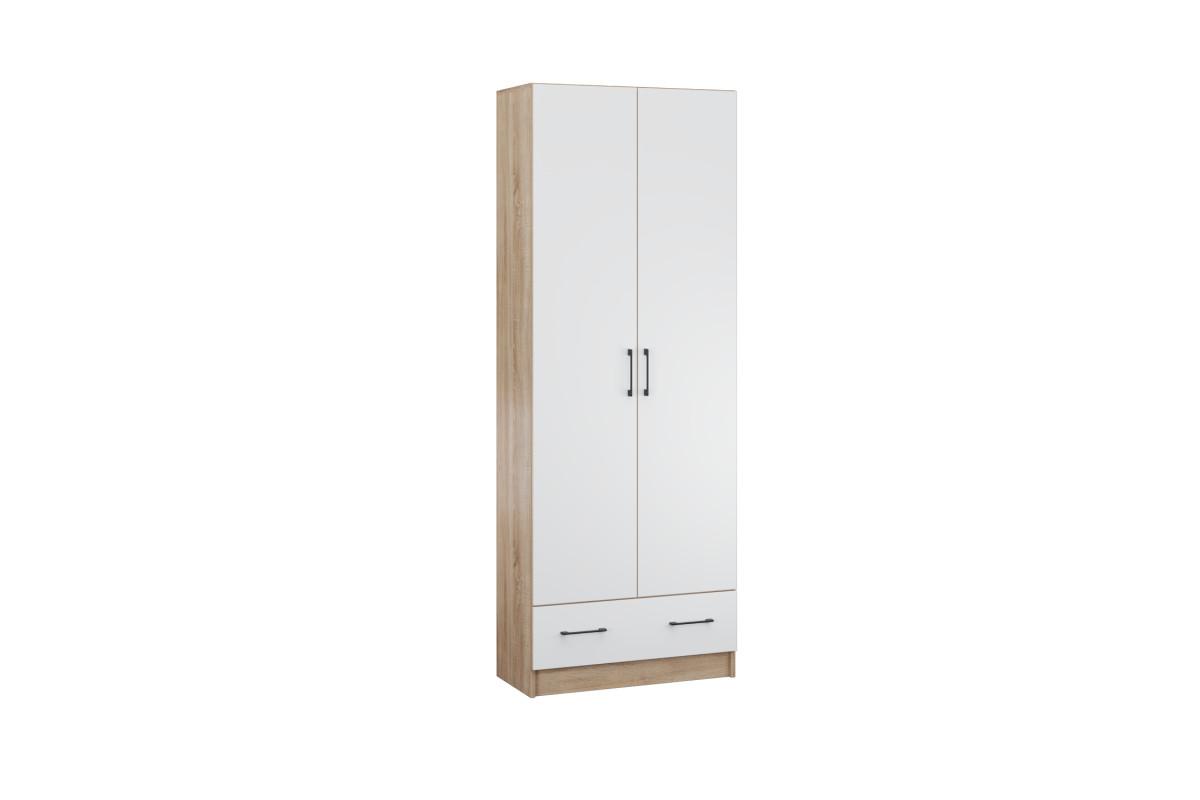 Прихожая Денвер шкаф 2х-ств. дуб сонома/Белый