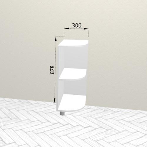 3ур - Шкаф угловой открытый напольный (300*820*600)