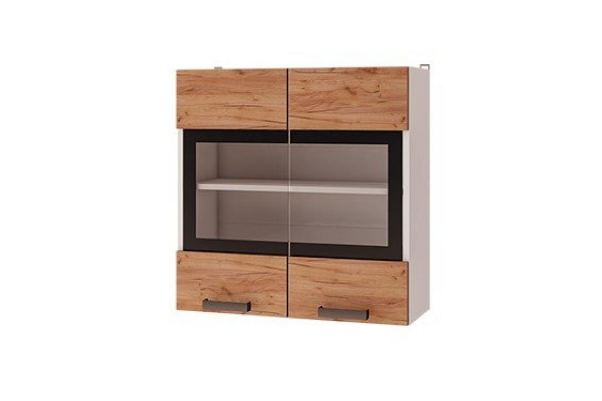 7в2 - Шкаф настенный 2-дверный со стеклом (700*720*310)