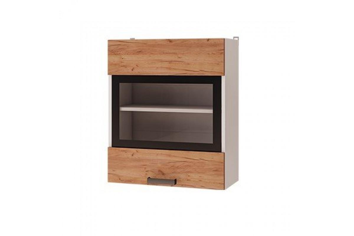 6в2 - Шкаф настенный 1-дверный со стеклом (600*720*310)