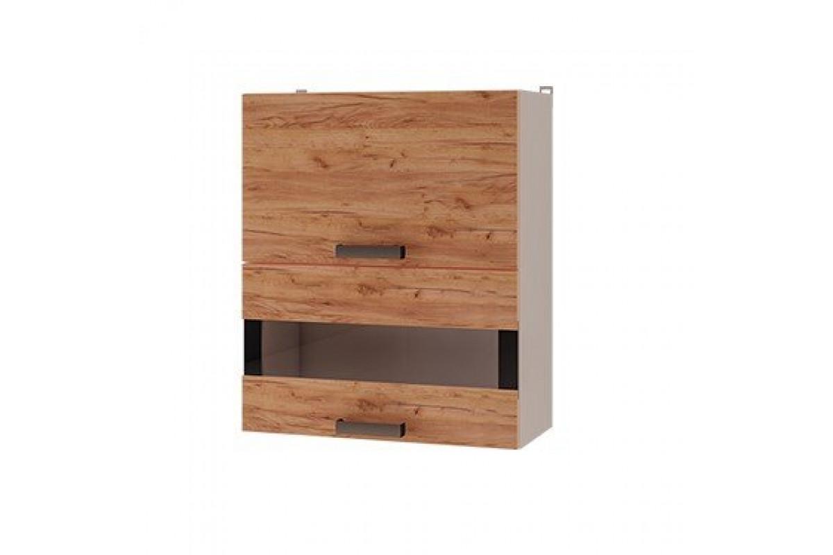 6в3 - Шкаф настенный с дверями горизонтальными (600*720*310)
