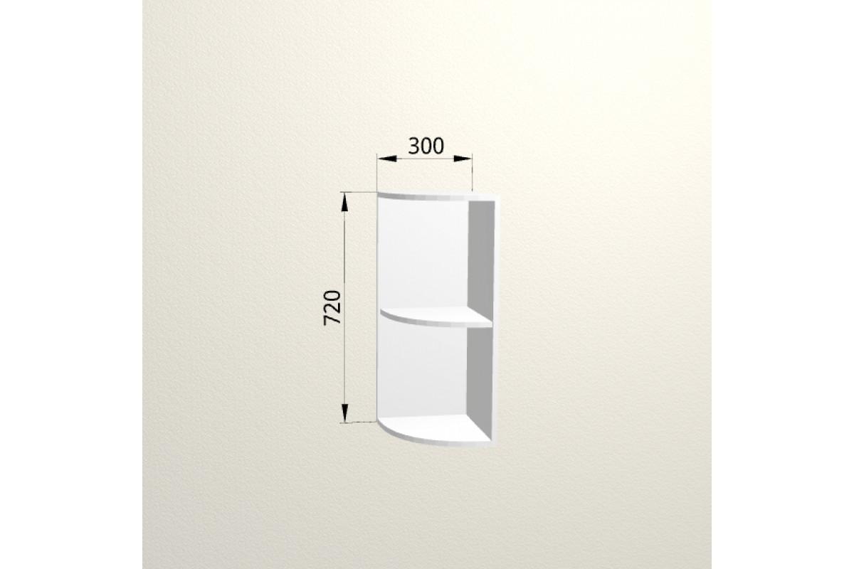 3ув - Шкаф угловой открытый настенный (300*720*310)