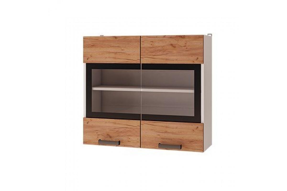8в2 - Шкаф настенный 2-дверный со стеклом (800*720*310)