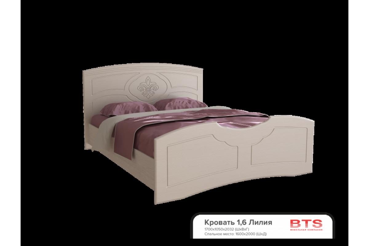 """""""Лилия"""" МДФ кровать 1,6м (1700х1050х2032)"""